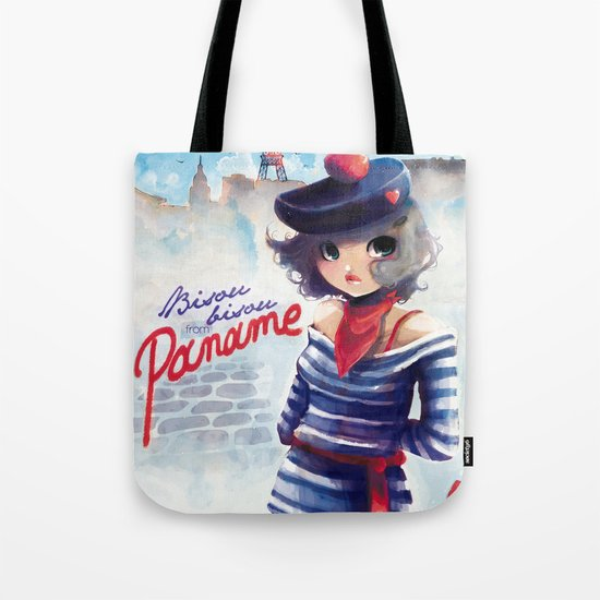 Bisou bisou from Paname Tote Bag