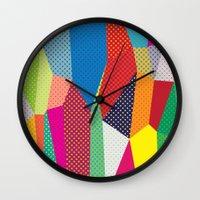 dots Wall Clocks featuring Dots by Joe Van Wetering