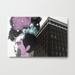 Crystal Mind Metal Print