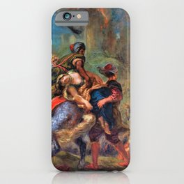 Eugene Delacroix - The Abduction Of Rebecca - Digital Remastered Edition iPhone Case