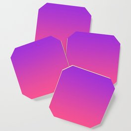 Bright Neon Ultra Violet Pink Gradient Pattern Coaster