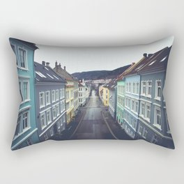 Streets of Bergen, Norway Rectangular Pillow