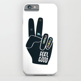 Inhale Exhale Peace sign iPhone Case