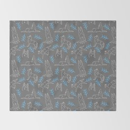 Siberian Husky Pattern Throw Blanket