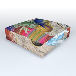 Tropical World Collage Outdoor Floor Cushion