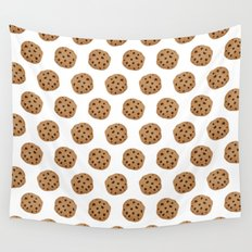 Chocolate Chip Cookies Pattern Wall Tapestry