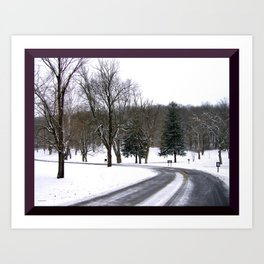 Winter Sleep at Butler Park Art Print