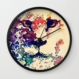 Watercolor Lion Wall Clock