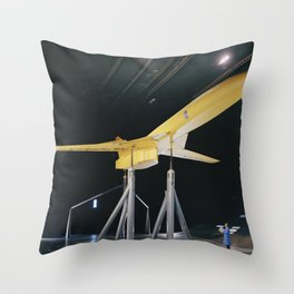 SCAT-16 Variable Sweep Model in 40x80 Wind Tunnel at NASA Ames 34 view of model in cruise configurat Throw Pillow