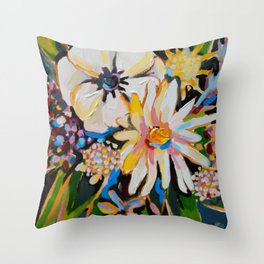 Cornelius - Cream and Forest Throw Pillow
