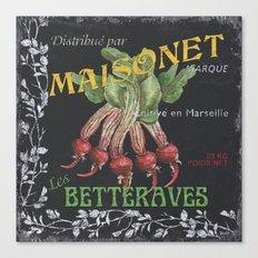 French Veggie Labels 2 Canvas Print
