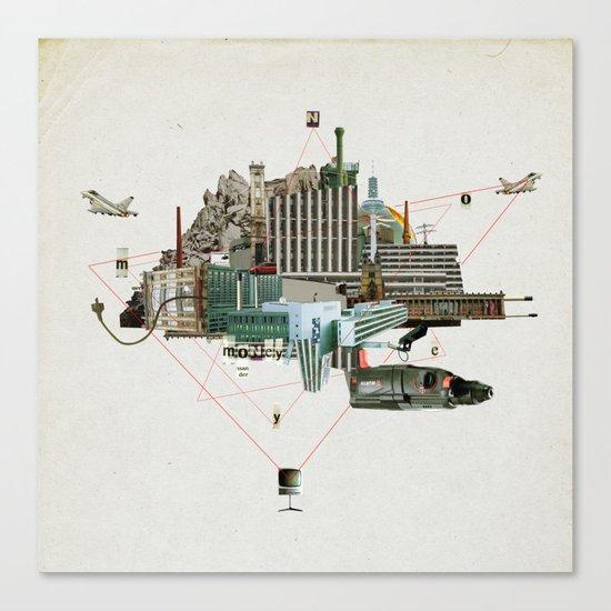 Collage City Mix 2 Canvas Print