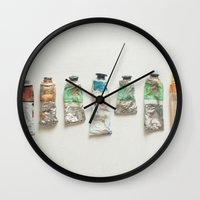 oil Wall Clocks featuring Oil Paints by Cassia Beck
