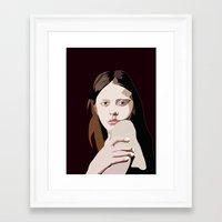 goth Framed Art Prints featuring Mia Goth by Anna McKay
