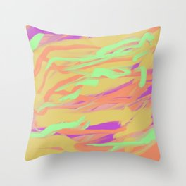 Pastel Groove Abstract II Throw Pillow