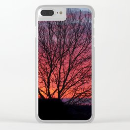 Autumn Sunrise At Chasewater Clear iPhone Case