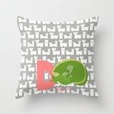 d for dragon Throw Pillow