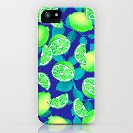 LIMETIME BLUE iPhone Case