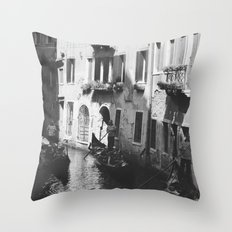 Trail of Gondolas Throw Pillow