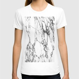 Classic White Marble #1 #decor #art #society6 T-shirt