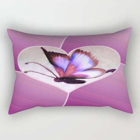 Butterfly Love - Lavender Rectangular Pillow