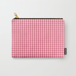 Red Scarlet Houndstooth Pattern Carry-All Pouch