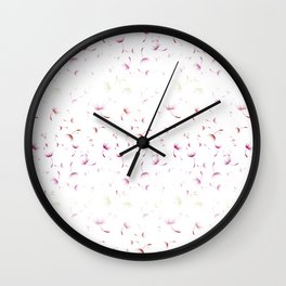 Dandelion Seeds Lesbian Pride (white background) Wall Clock