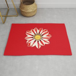 African Daisy / Gazania - Red and White Striped Rug