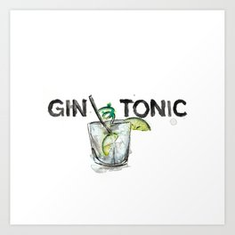 Favourite Things - Gin and Tonic Art Print