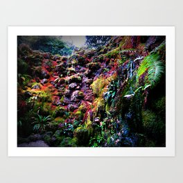 Landscape Photography Rainbow Rock Garden Vibrant Color Home Decor Print Art Print
