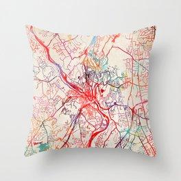 Shelton map Connecticut CT Throw Pillow