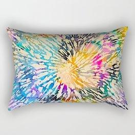 Multi Color Explosion Rectangular Pillow