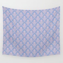 Damask Pattern | Serenity and Rose Quartz | Pantone Colors of the Year 2016 Wall Tapestry