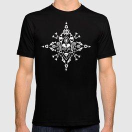 African Tribal mask ethnic on dark T-shirt
