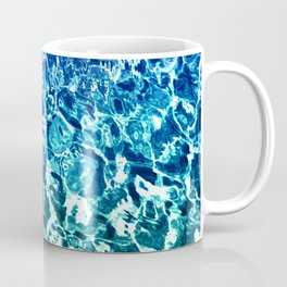 Psychedelic Water in Blue Coffee Mug