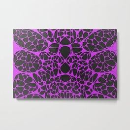 Violet on black, organic abstraction Metal Print