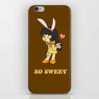 gemma correll iPhone & iPod Skins featuring Gemma- So Sweet by Star Nation (Robby Dadson)