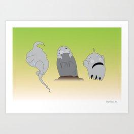 "A""fraid"" of Ghosts Art Print"