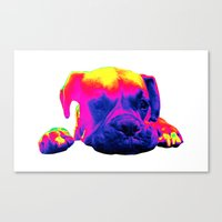 boxer Canvas Prints featuring Boxer by Ty McKie Creations