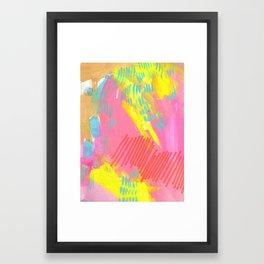 champagne rain Framed Art Print