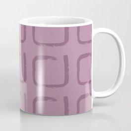 Berry Color Imperfect Geometric Squares Coffee Mug