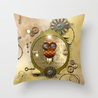 steampunk Throw Pillows featuring Steampunk  by nicky2342