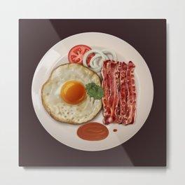 Fried Egg and Bacon Metal Print