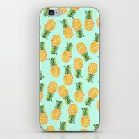 novelty iPhone & iPod Skins featuring Pineapple by Amy Sia