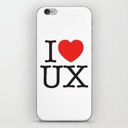 I heart UX iPhone Skin