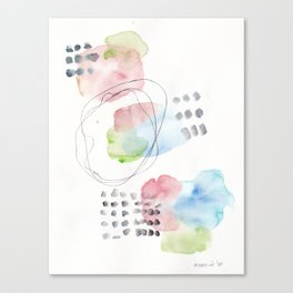180805 Subtle Confidence 15 | Colorful Abstract |Modern Watercolor Art Canvas Print