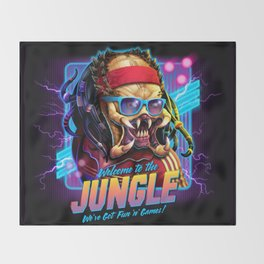 Welcome to the Jungle Throw Blanket