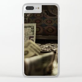money comes money goes Clear iPhone Case