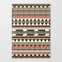 aztec Canvas Prints featuring DG Aztec No.1 by Dawn Gardner