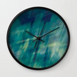 Submerge Aqua Wall Clock